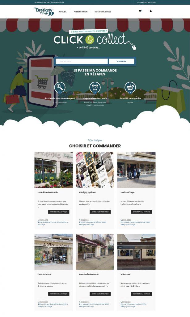 Click and collect des commercants de Brétigny-sur-Orge